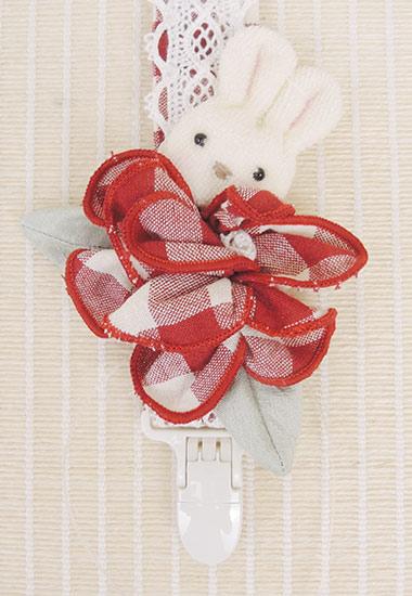 ウサギ、お花のアップ