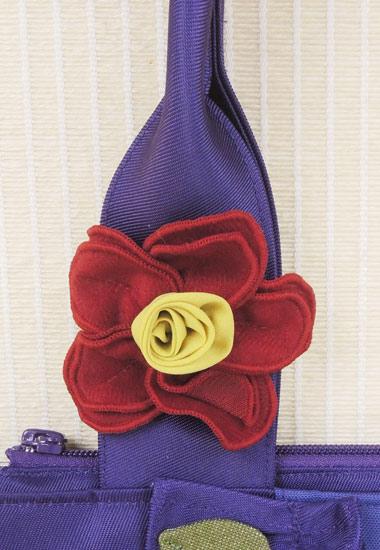 持ち手部分のお花