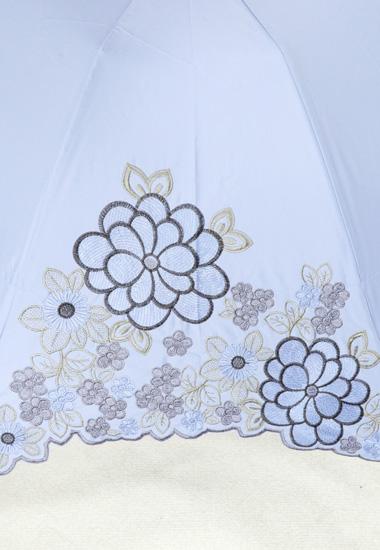 刺繍柄のアップ