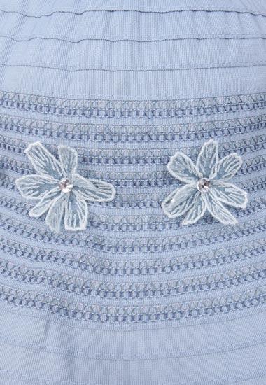 お花、刺繍のアップ