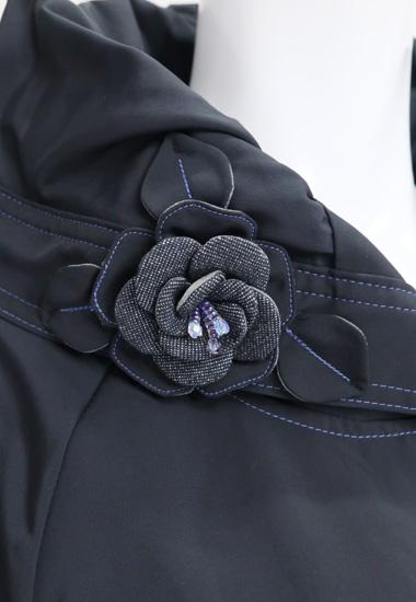 衿部分のお花